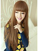 Japan and South Korea Fashion  Flaxen Qi Liu Hai Long Straight Hair Wig