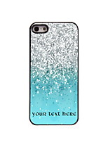 Personalized Gift Colorful Sand Design Aluminum Hard Case for iPhone 5/5S
