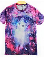 European Style TEE Digital Printing 3D T-shirt Star Pet Harajuku Sleeved T-shirt