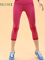 YUIYE®Women Running Fitness Tight Pants Body Sculpting Stretch Wicking Breathable Sports Shorts (without the Top)