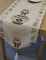 chinois table de style coureur avec motif de vase