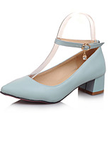 Women's Shoes PU Summer / Fall Heels / Pointed Toe Heels Office & Career / Casual Chunky Heel Sparkling Glitter