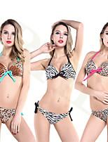 Mulheres Tanquini Floral Nadador Com Aro Algodão/Linha Entrelaçada Mulheres