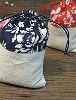 6 Piece/Set Favor Holder - Cuboid Jute Favor Bags Non-personalised