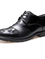 Men's Oxfords Spring Fall PU Wedding Office & Career Casual Party & Evening Flat Heel Black