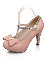 Women's Shoes Stiletto Heel Heels/Round Toe/Closed Toe Pumps/Heels Wedding/Party & Evening/Dress Pink/Purple/White
