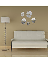 Mirror Wall Stickers Wall Decals, Althea Flower DIY Mirror Acrylic Wall Stickers