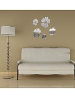 miroir autocollants muraux stickers muraux, Althea fleurs miroir bricolage mur acrylique autocollants