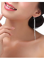 Three Lines Exaggerated Tassel Earrings