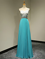 Formal Evening Dress - Jade Plus Sizes / Petite A-line One Shoulder Floor-length Chiffon