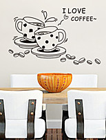 Wall Stickers Wall Decals, I Love Coffee PVC Wall Stickers