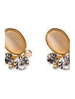 Women's  Fashion Elegant Zircon Individuality Earrings HJ0010