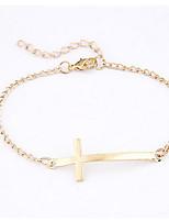Women's Alloy Simple Cross Bracele