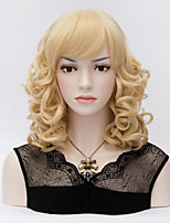 The European and American Wind Light Golden Short Wigs