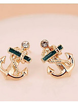 Fashion Individuality Navy Anchor Alloy Drop Earrings