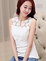 Women's Sexy Lace Cultivating Cotton Sleeveless Vest