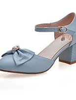 Women's Shoes Chunky Heel Heels/Pointed Toe Pumps/Heels Dress Blue/Pink/White