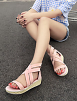 Women's Shoes  Flat Heel Open Toe Sandals Outdoor/Casual Blue/Pink/Beige