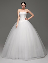 Princess Sweep/Brush Train Wedding Dress -Strapless Tulle
