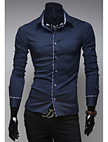 High-Quality Chinese Style Mens Shirts Fashion 2015 Long-Sleeve Shirt 3 Color