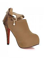 Women's Shoes Synthetic Stiletto Heel Heels/Basic Pump Pumps/Heels Office & Career/Dress/Casual Black/Red/Beige