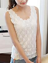 Women's Sexy/Lace Micro-Elastic Sleeveless Regular Vest (Lace)