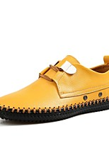 Men's Shoes Outdoor/Athletic/Casual Leather Loafers Blue/Brown/Yellow/Green