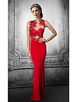 Formal Evening Dress Trumpet/Mermaid Jewel Floor-length Lace/Tulle Dress