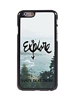 Personalized Gift Explore Design Aluminum Hard Case for iPhone 6
