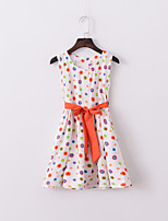 Girl's Summer Colorful Floral Sleeveless Dresses (Cotton Blends)