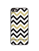 Personalized Gift White Black Golden Stripe Design Aluminum Hard Case for iPhone 4/4S