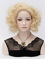 Short Curly Marilyn Monroe Pale Blonde Wigs Sexy Curl Heat Resistant Full Hair Wig