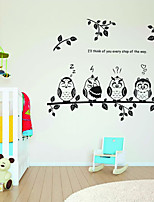 Wall Stickers Wall Decals, Cartoon Owls Family PVC Wall Stickers