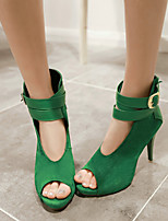 Women's Shoes  Stiletto Heel Peep Toe Sandals Wedding/Party & Evening Black/Green/Red/Beige