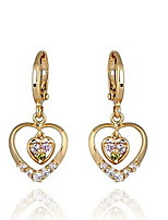 Women's New Gold Plated Hot Selling Fashion Hollow Heart Shape Earrings