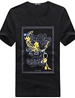 2015 High Quality 95% Cotton Brand Men's T-Shirt Short Sleeve 5 Color M-3XL