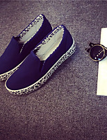 Women's Shoes Canvas Flat Heel Creepers/Round Toe Fashion Sneakers Office & Career/Casual Blue