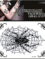 Tattoo Stickers Non Toxic/Pattern/Lower Back/Waterproof Animal Series Adult Black Paper 1 17*16 Spider
