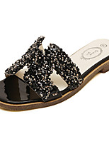 Women's Shoes Synthetic Flat Heel Scuff Slippers Outdoor/Casual Black/White