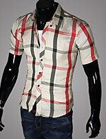 M-2XL High-Quality Mens Shirts Fashion 2015 Short Sleeve Shirt