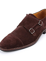 Men's Shoes Casual Suede Oxfords Brown/Navy