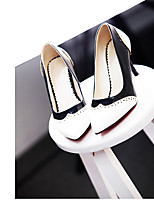 Women's Shoes Faux Leather Stiletto Heel Heels/Pointed Toe Pumps/Heels Office & Career/Dress/Casual Black/White
