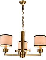 New style,Elegant Fashion Modern 3 Lights Golden Wrought Iron  New Chinese Style Cloth Art Chandelier