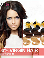 3 Pcs Lot 14-28 Ombre Malaysian Virgin Hair Extensions Body Wave Three Tone Black Brown Blonde 1B/4/27# Human Hair Weave