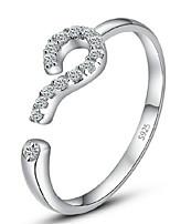 Anéis Zircônia Cubica Prata Prata Mulheres
