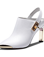 Women's Shoes Komanic Leather Chunky Heel Leather Pointed Toe Pumps Shoes More Colors available