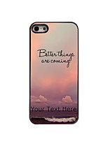Personalized Gift Better Things Are Coming Design Aluminum Hard Case for iPhone 5/5S