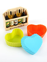 10pcs Heart Shaped Baking Molds Cake Molds Jelly Mold  (Random Color)