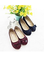 Flade sko ( Sort/Burgunder ) - GIRL - Rund tå/Lukket tå