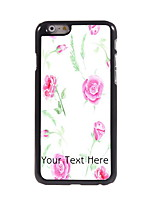 Personalized Gift Rose Design Aluminum Hard Case for iPhone 6